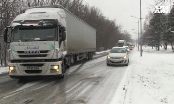 Сняг и лед – пътната обстановка в Русенско