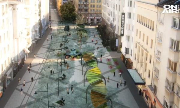 За нова визия: Гранит, лампи и зеленина в центъра на София