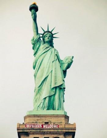 САЩ, Статуята на свободата: Бежанци, добре дошли!