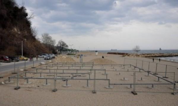 Бетонът на Офицерския плаж - преместваем, а не масивен обект