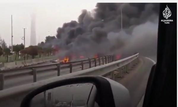 Хеликоптер се разби в Истанбул, има жертви