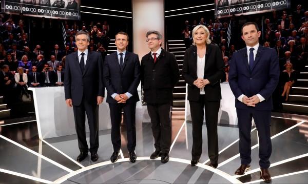 Мишена: Вкупом нападнаха Марин льо Пен на дебат