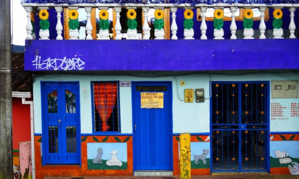Най-цветният град в далечна Колумбия