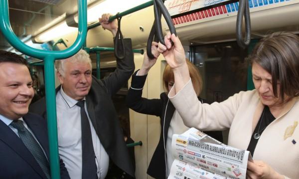 Еврокомисар Булц: Впечатляващо е колко хора пътуват с метро!