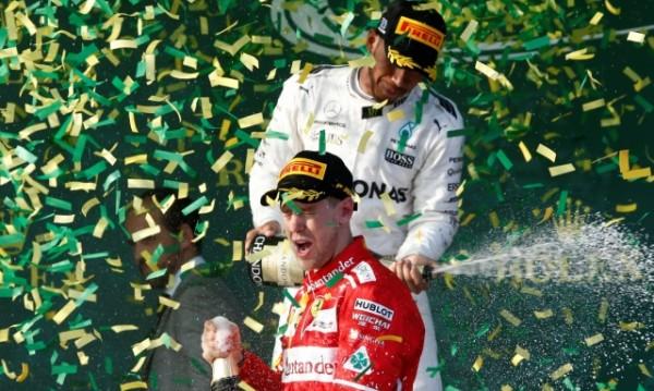 Фетел надви Хамилтън на старта на Формула 1