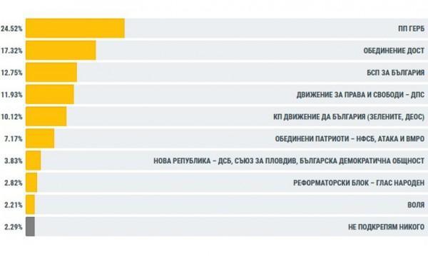 Победителите от вота в чужбина: ГЕРБ и ДОСТ