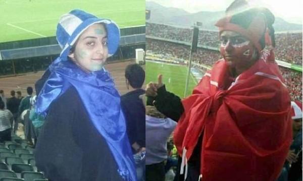 Белезници за иранки: Дегизирани като мъже... за мача