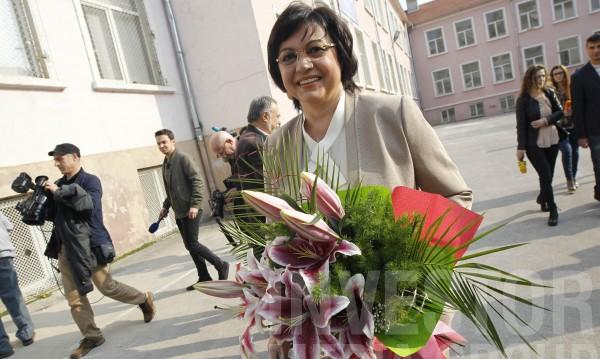 Нинова заложи поста си в БСП срещу оставката на Гергов