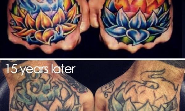 Как се променят татуировките с времето?