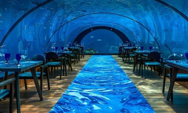 Най-големият стъклен подводен ресторант е на Малдивите