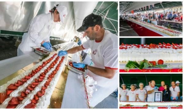 Новият рекордьор на Гинес: Френска ягодова торта