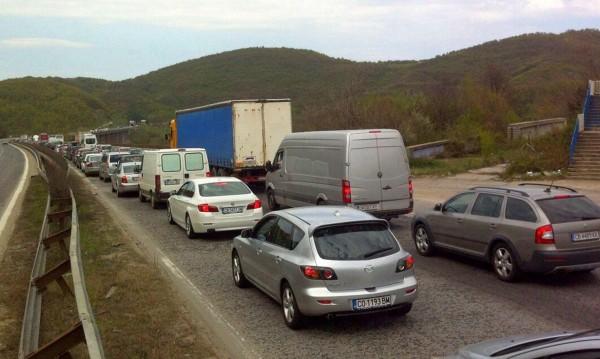"""Последният ден на август 2016 - пик на трафика през """"Тракия"""""""