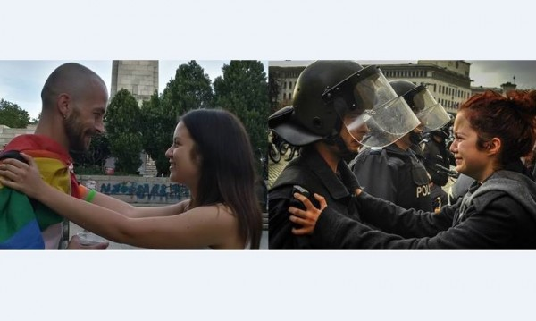 Ванчо и Деси – Един vs. друг на протеста, заедно на прайда!