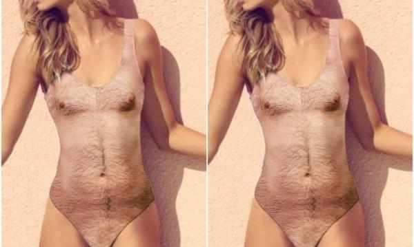 Женски бански... с мъжко тяло и окосмение