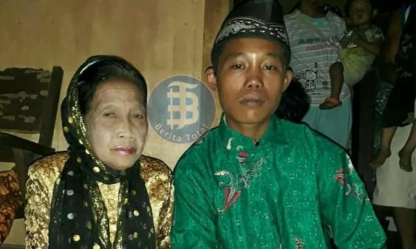 Индонезийски тийнейджър се ожени за 71-годишна жена