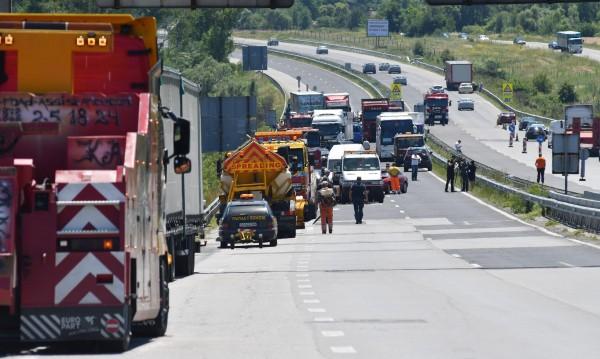 """Движението по АМ """"Тракия"""" е възстановено в посока Пловдив"""