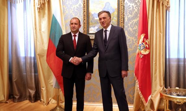 Радев: Ще подпомагаме интеграцията на Черна гора