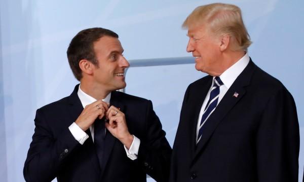 Те се различават, но си и приличат – Тръмп протяга ръка на Макрон