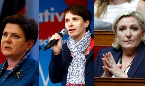 Льо Пен, Шидло, Петри: Краят на мъжете и възходът на жените популисти