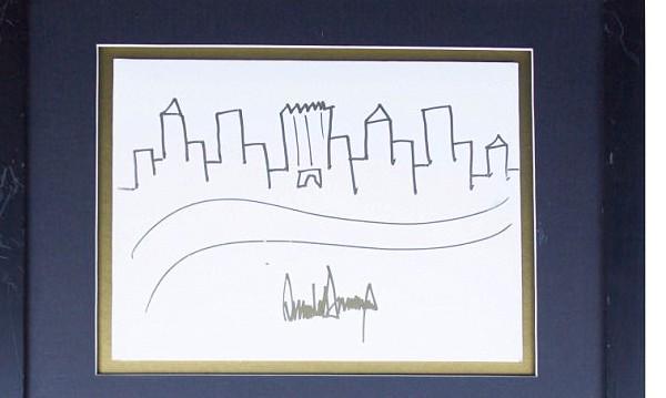 Тръмп скицирал Ню Йорк... А някой купи рисунката за $29,2 хил.