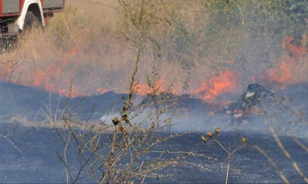 Пожар изпепели постройки във вилната зона на Изворище