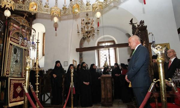 Главчев посети Бигорския манастир в Македония