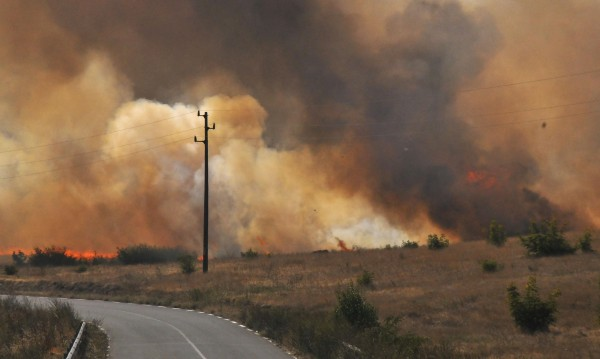 100 дка треви и храсти горят в местност до Ямбол