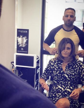 Десислава Радева – на фризьор. За срещата с Брижит Макрон