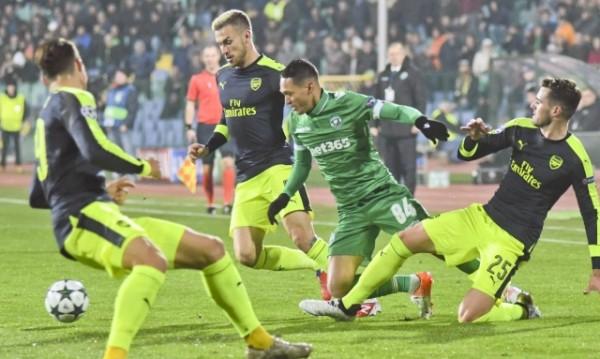 Арсенал и Милан дебнат Лудогорец в Лига Европа
