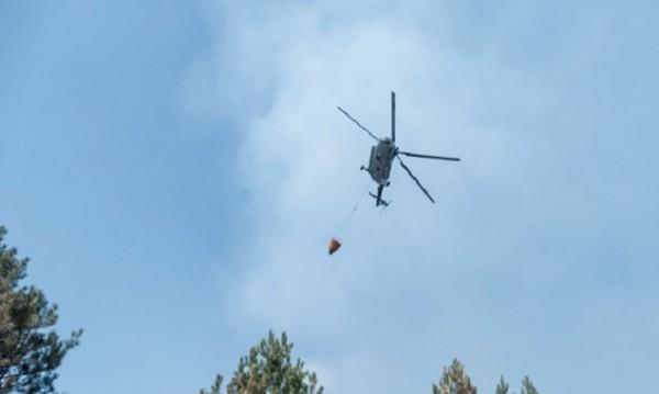 Два вертолета Ми-17 участваха при борбата с пожара