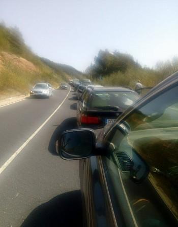 Километрова колона при Маказа, влиза се в Гърция за 3 часа*
