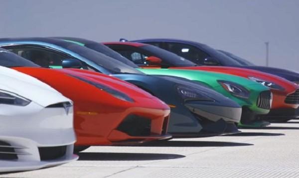 Tesla срещу 11 спортни коли: Най-великата гонка в историята