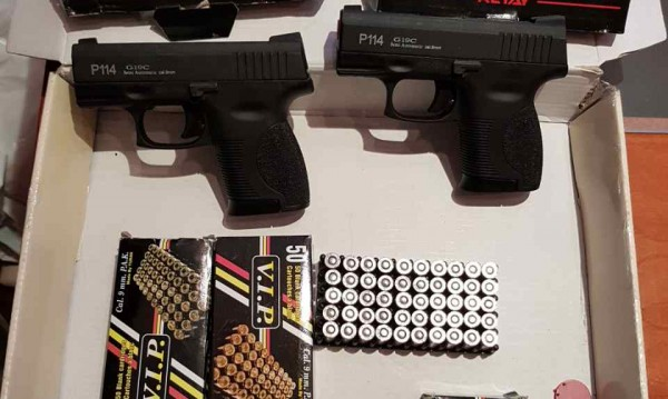 Митничари задържаха пистолети и боеприпаси на Капитан Андреево