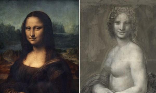 Откриха рисунка на голата Мона Лиза?