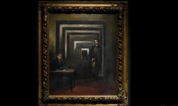 """С отвертка срещу фюрера: Мъж """"нападна"""" картина на Хитлер"""