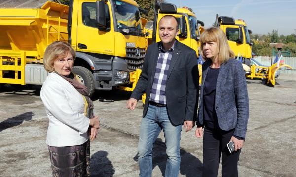 Фандъкова се зарече: Без компромиси за чистенето на снега!