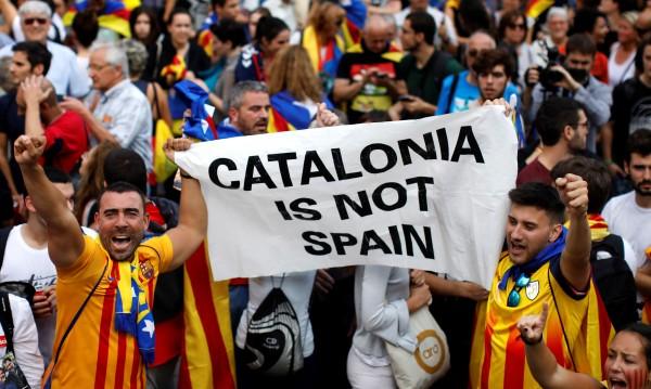 Рахой в Twitter: Законът ще бъде възстановен в Каталуния!