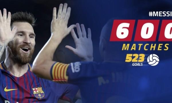 Лео Меси изигра своя мач №600 за каталунците