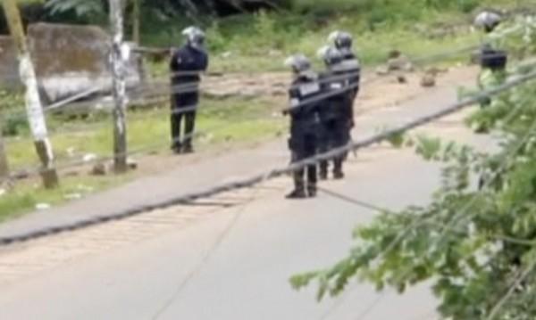 Парламентът на Камерун изгоря