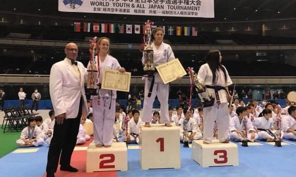 Шест медала и абсолютната шампионска титла по карате киокушин завоюваха състезателите на БККФ в Япония