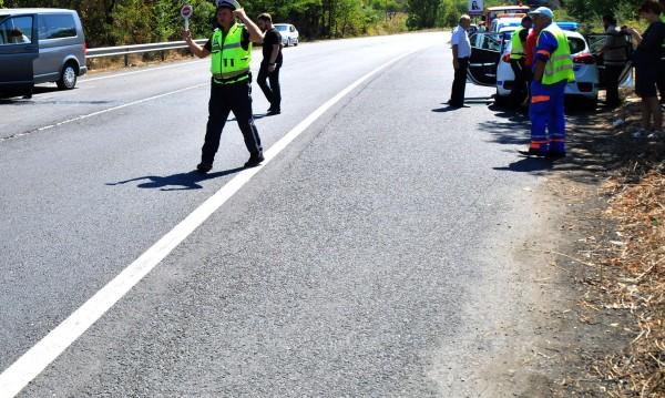 ПТП между ТИР и кола затвори Кресненското дефиле
