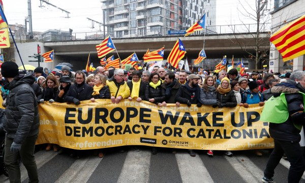 45 000 души в Брюксел в подкрепа на каталунската независимост