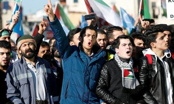 Протест в Истанбул: Ерусалим е гордостта на мюсюлманите!