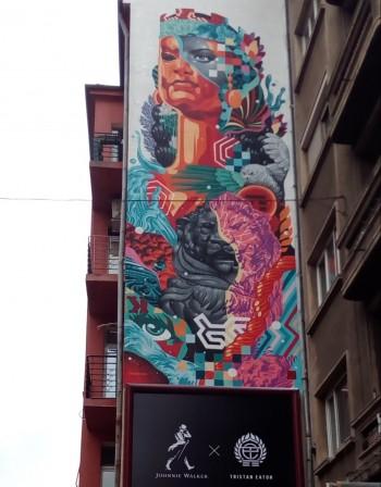Световноизвестен графити артист със софийска творба