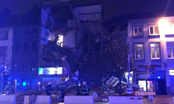 Експлозия срина сгради в Антверпен, 20 са ранени