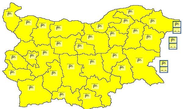 """В цялата страна бушува силен вятър, кодът е """"жълт"""""""