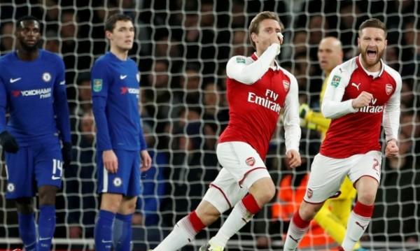 Арсенал си осигури финал след победа над Челси