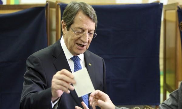 Никос Анастасиадис бе преизбран за президент на Кипър