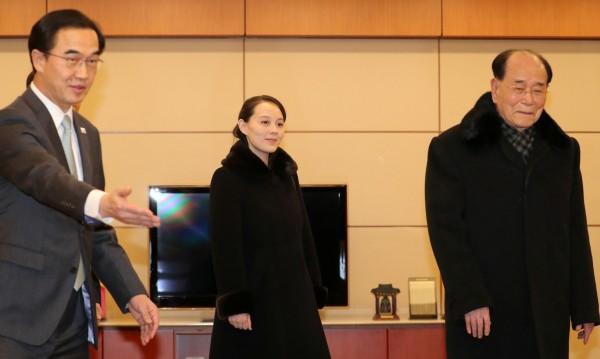 Делегацията, в която е сестрата на Ким Чен Ун, пристигна в Южна Корея