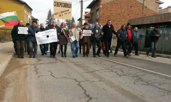 Северозападът пак се вдигна на протест, иска магистрала